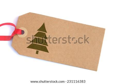 Christmas gift tag  - stock photo