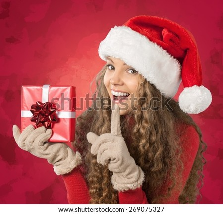 Christmas, Gift, Women. - stock photo