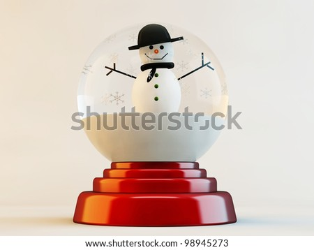 christmas glass ball isolated on white background - stock photo