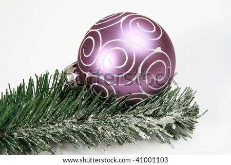 Christmas globes - stock photo