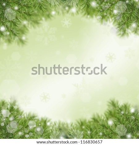 Christmas green framework - stock photo