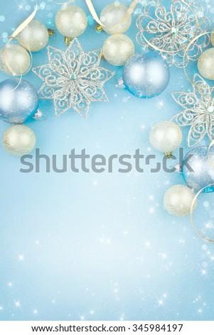 Christmas greeting card. - stock photo