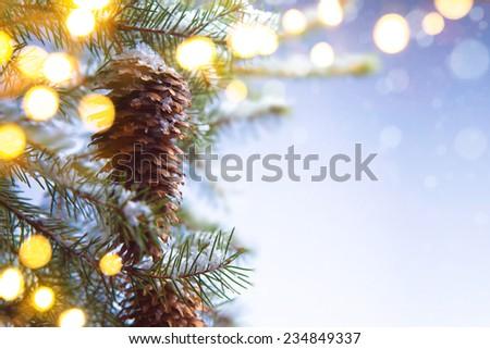 Christmas holiday background - stock photo