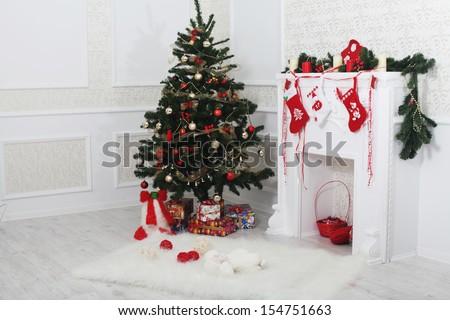 Christmas  interior  - stock photo