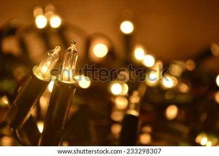Christmas lights.  - stock photo
