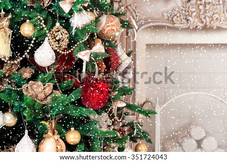 Christmas living room - stock photo