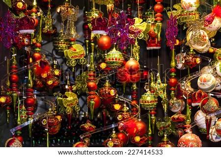 Christmas market at Rathausplatz, Vienna, Austria - stock photo