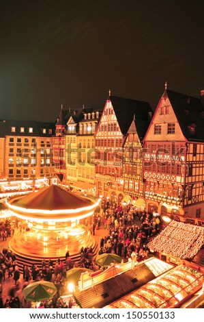 Christmas market Frankfurt Germany  - stock photo