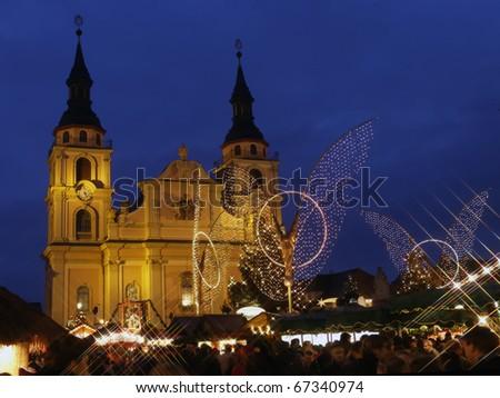 Christmas market in Ludwigsburg, Germany - stock photo