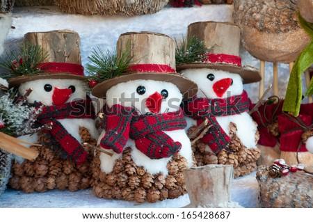 Christmas market store  - stock photo