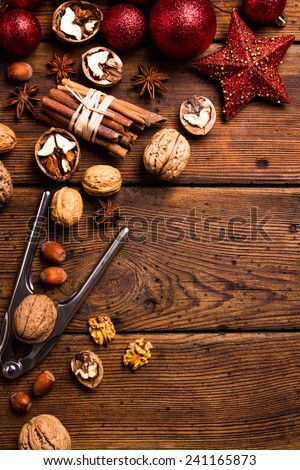 CHRISTMAS mix nuts - stock photo