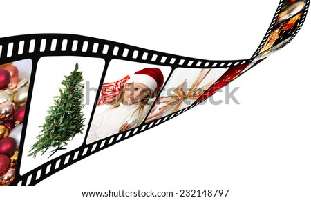 Christmas Movie Film with images - stock photo