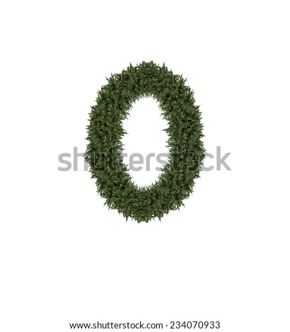 christmas number - stock photo