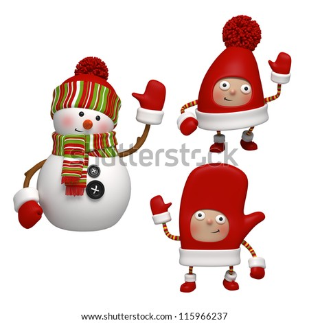 Christmas objects - stock photo