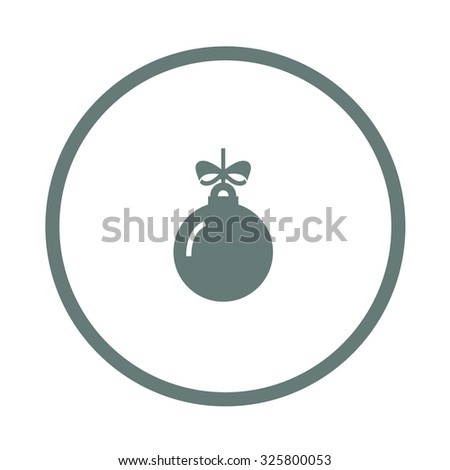 Christmas ornament icon. Concept flat style design illustration icon - stock photo