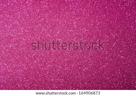 Christmas pink background with glitter - stock photo