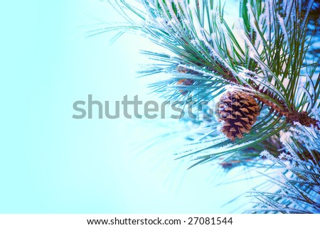 Christmas post card - stock photo