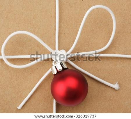 christmas present. - stock photo