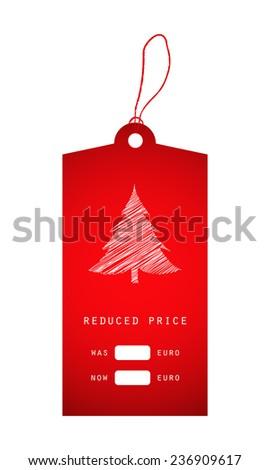 christmas price sticker - stock photo