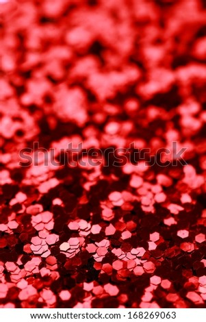 Christmas Red Glitter background. Holiday abstract texture  - stock photo