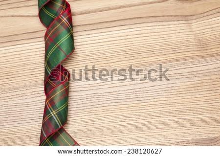 Christmas ribbon - stock photo