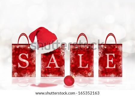 Christmas sale background - stock photo