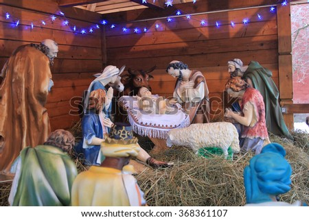 Christmas scene decoration  - stock photo