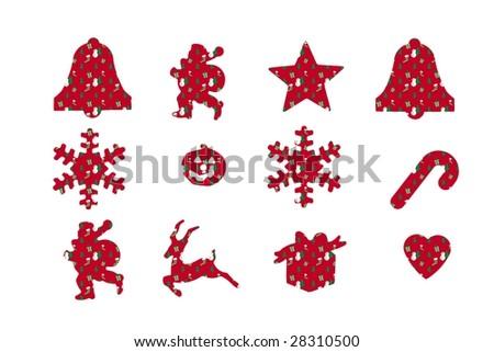 Christmas set. Elements for design - stock photo