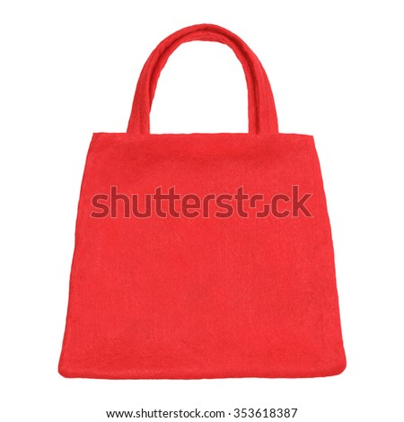 Christmas shopping bag isolated on white background - stock photo
