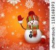 Christmas snowman - stock photo