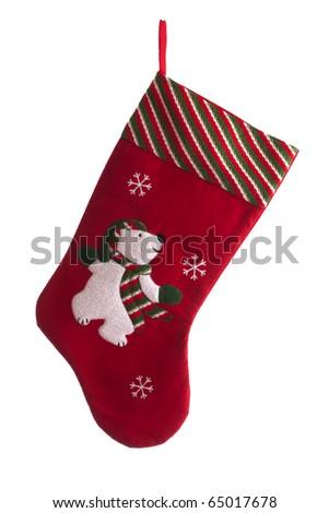 christmas sock - stock photo