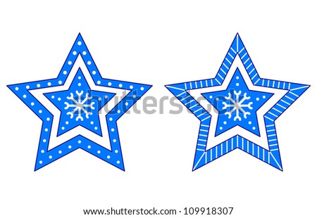 Christmas star, holiday pattern, ornament, pictogram, isolated - stock photo