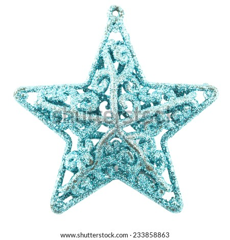 Christmas star. isolated on white  - stock photo