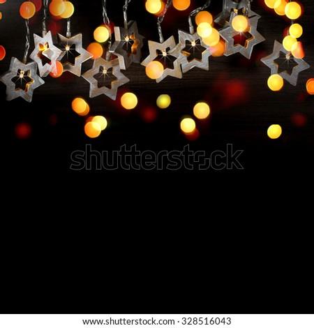 Christmas star lights. - stock photo