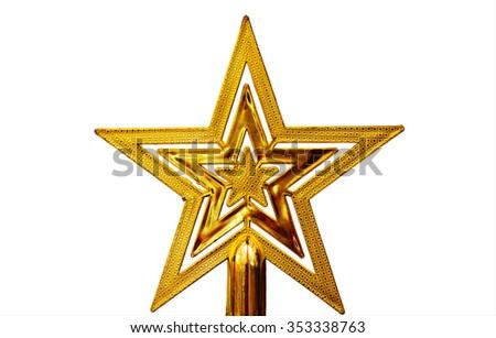 Christmas stars,beautiful christmas stars,yellow stars - stock photo