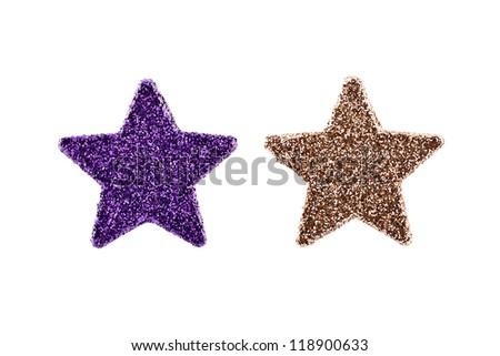christmas stars decoration - stock photo