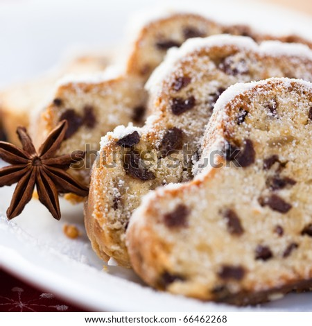 Christmas Stollen - stock photo