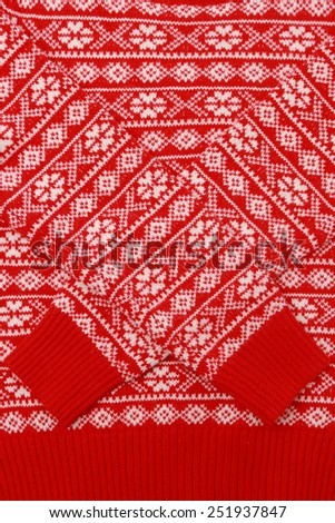 christmas sweater texture - stock photo