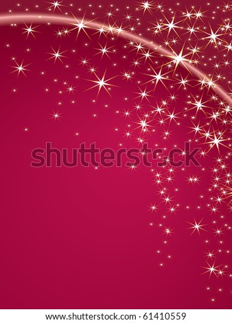 Christmas theme with stars on a pink background. Space for your text - stock photo