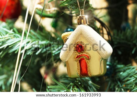 Christmas toy of home - stock photo