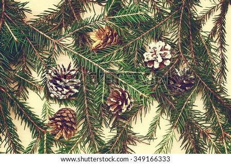 christmas tree background - stock photo