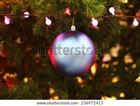 christmas tree ball - stock photo