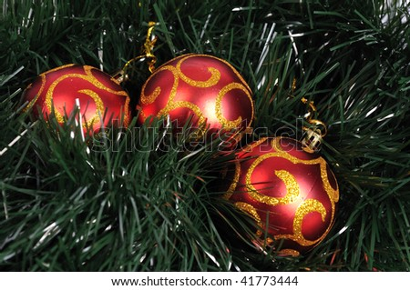 Christmas tree balls - stock photo