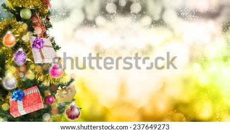 Christmas Tree.Eve - stock photo