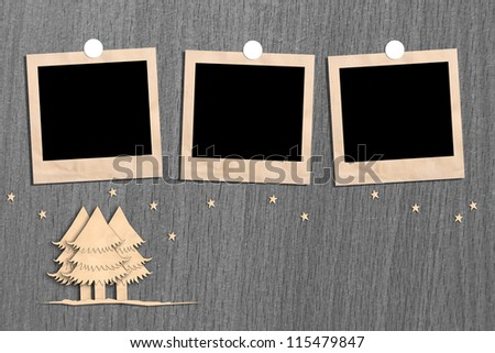 Christmas tree for image and text. - stock photo