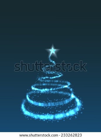 Christmas tree from light background - stock photo