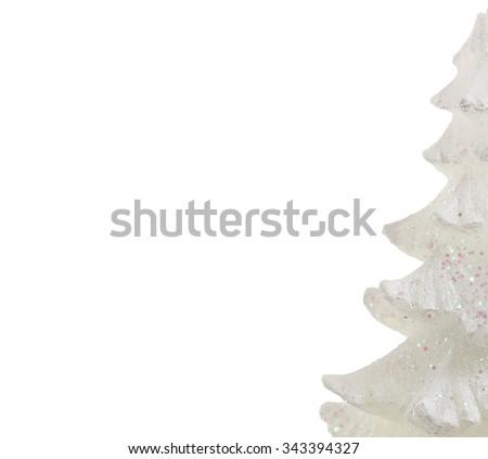Christmas tree , Merry christmas card. - stock photo