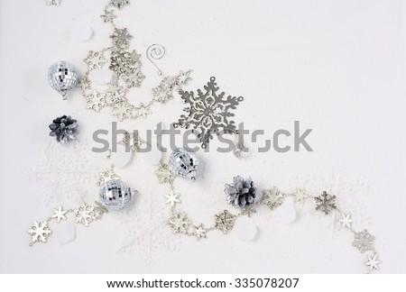 Christmas tree ornaments.Happy new year still life - stock photo