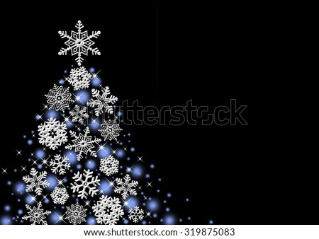 Christmas tree snowflake - stock photo