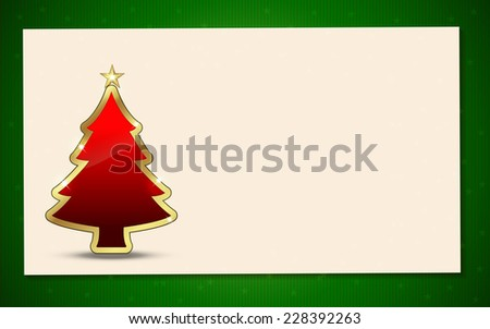 Christmas Tree with background. Perfect for invitations or announcements. - stock photo